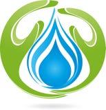 Deux mains, baisses, l'eau, nature, logo Images libres de droits