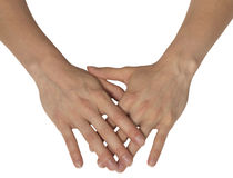 Deux mains féminines Photographie stock libre de droits