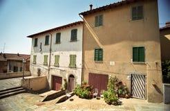 Deux maisons en Italie Photos libres de droits