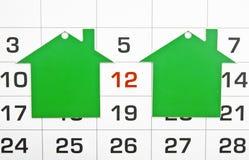 Deux maisons vertes de forme Photo stock