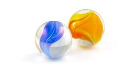 Deux marbres en verre Photo libre de droits