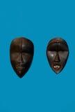Deux masques d'Afrique Images stock