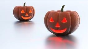 Deux mauvais et potirons frais de Halloween illustration libre de droits