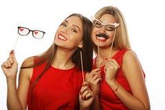 Deux meilleurs amis élégants de filles prêts pour la partie Images libres de droits