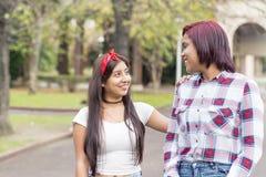 Deux meilleurs amis de sourire Image libre de droits