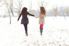 Deux meilleurs amis marchant ensemble Photographie stock