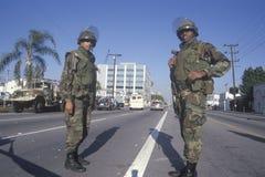 Deux membres de dispositif protecteur national Photographie stock