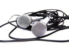 Deux microphones. Photos stock