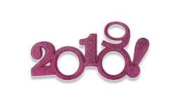 Deux mille et dix-neuf Nouvel 2019 ans sur le blanc Photo stock