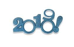 Deux mille et dix-neuf Nouvel 2019 ans sur le blanc Photographie stock