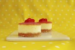 Deux mini gâteaux au fromage Photos stock