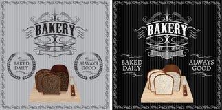 Deux modèles avec du pain différent pour faire de la publicité Photos libres de droits