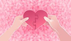 Deux moitiés d'un coeur Images stock