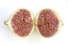 Deux moitiés de figue fraîche Photos stock