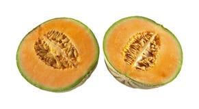 Deux moitiés des melons photographie stock libre de droits