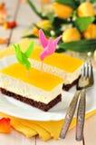 Gâteau orange de quark Image stock