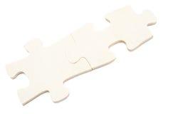 Deux morceaux de puzzle avec le chemin de coupure Photo stock