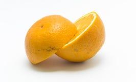 Deux morceaux oranges Photo stock