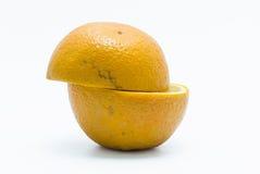 Deux morceaux oranges Photos stock
