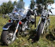 Deux motos Image libre de droits