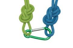 Deux noeuds et une carabine image libre de droits