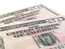 Deux 50 notes de dollar US Photos stock