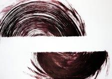 Deux objets semi-circulaires sont dessinés sur le format Nous sommes unis par le mouvement illustration libre de droits