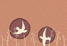 Deux oiseaux Image libre de droits
