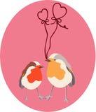 Deux oiseaux d'amoureux Images stock
