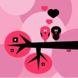 Deux oiseaux dans l'amour Image libre de droits
