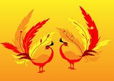 Deux oiseaux féeriques illustration stock