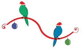 Deux oiseaux sur un ruban Image libre de droits