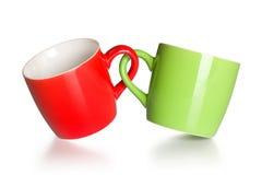 Deux ont accouplé des tasses de café Image libre de droits