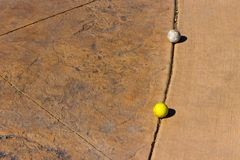 Deux ont employé les boules de golf sales Images libres de droits