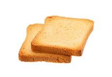Deux ont grillé la tranche de pain Photographie stock