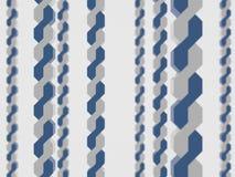 Deux ont tordu le long d'envelopper le fond blanc bleu de brin de champ de profondeur d'abrégé sur chaîne de chaîne de circuit d' illustration stock