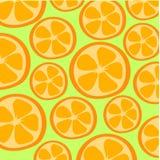 Deux oranges sur le fond vert Photos libres de droits
