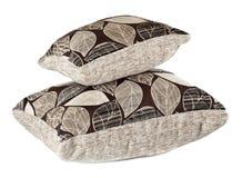 Deux oreillers gris Photographie stock libre de droits