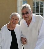 Deux ou trois aînés heureux Photos libres de droits