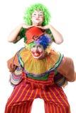 Deux ou trois clowns drôles Image libre de droits
