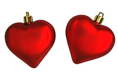 Deux ou trois coeurs de jour de Valentines. Images stock
