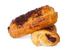 Chocolat de croissants Photo stock