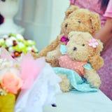 Deux ours de nounours avec épouser serein Photographie stock libre de droits