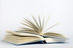 Deux ouvrent les livres bleus sur un fond bleu-clair Photos stock