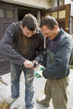 Deux ouvriers Photographie stock