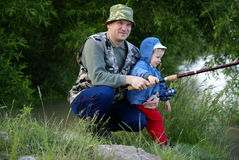 Deux pêcheurs Photo stock