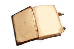 Deux pages vides dans un vieux livre Images libres de droits