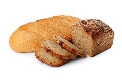 Deux pains avec la graine et la céréale de sésame Photos libres de droits