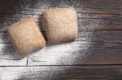 Deux pains de ciabatta Image stock