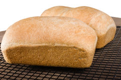 Deux pains de pain cuit au four frais Image stock